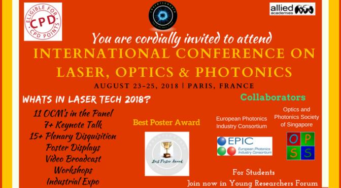 International Conference on Laser, Optics and Photonics