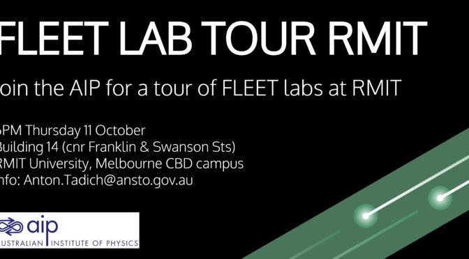 AIP Tour of FLEET Labs, RMIT