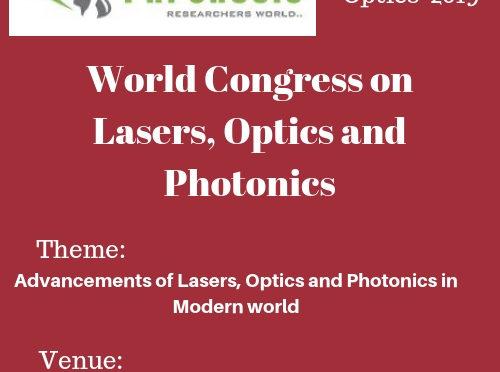 World Congress on  Lasers, Optics and Photonics